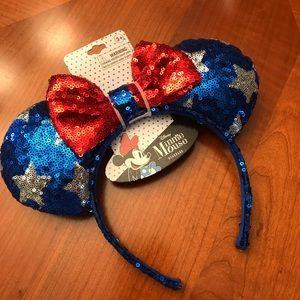 Disney Ears patriotic Minnie Mouse Ears new